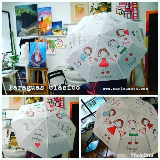 Paraguas Clásico Familia Feliz
