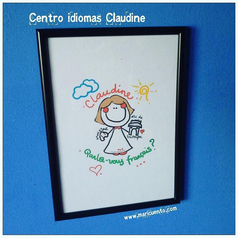 """Lámina """"Escuela idiomas Claudine"""""""