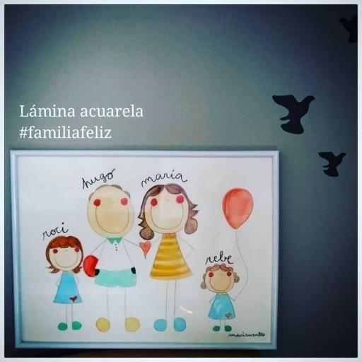 Lámina Familia Feliz A3