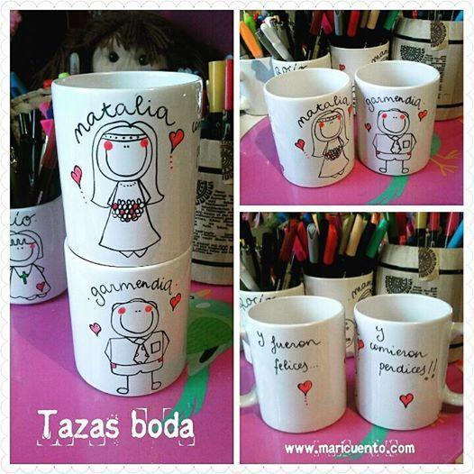 Set de tazas Boda