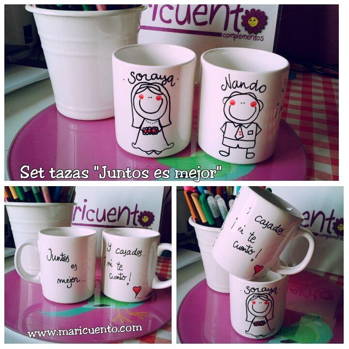 """Set de tazas """"Juntos es mejor"""""""