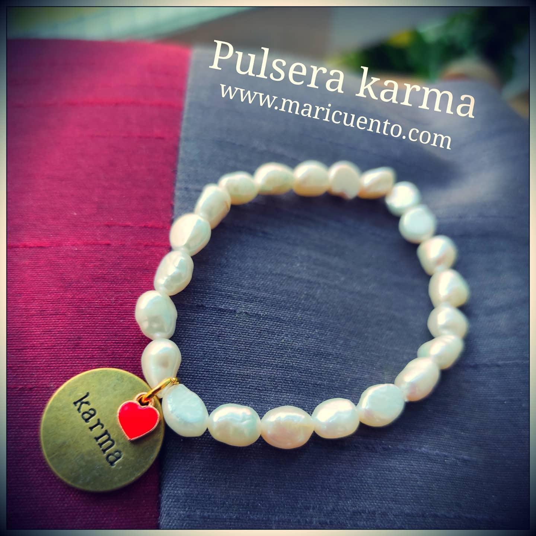 Pulsera Karma perlas