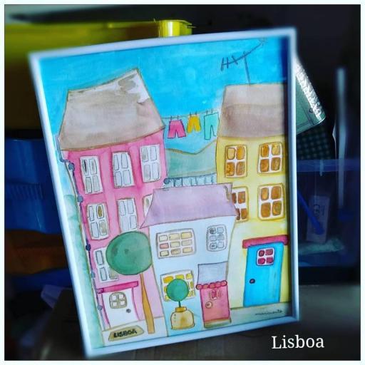 """Lámina A3 """"Lisboa"""""""