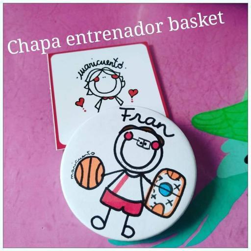 Chapa entrenador basket