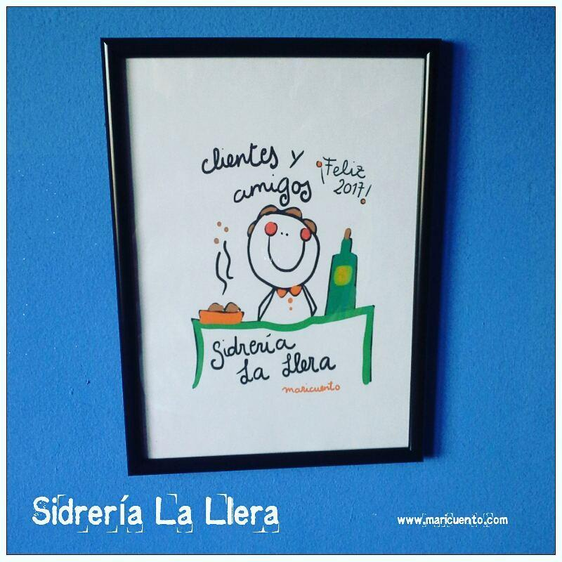 """Lámina """"Sidrería La LLera"""""""