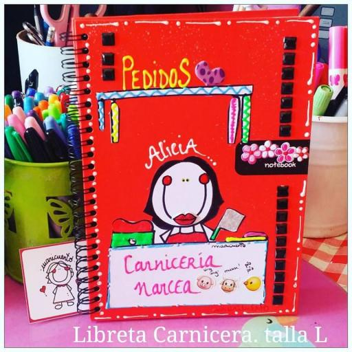 Libreta carniceria/carnicera. Talla L