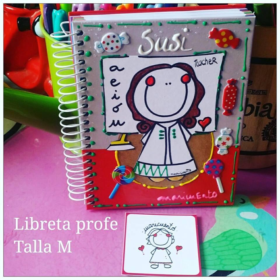 Libreta Teacher. Talla M.