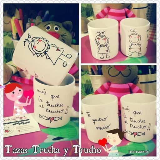 """Set de tazas """"Trucha y trucho"""""""