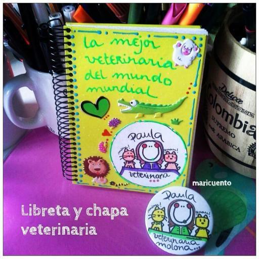 Libreta Veterinaria. Talla M.