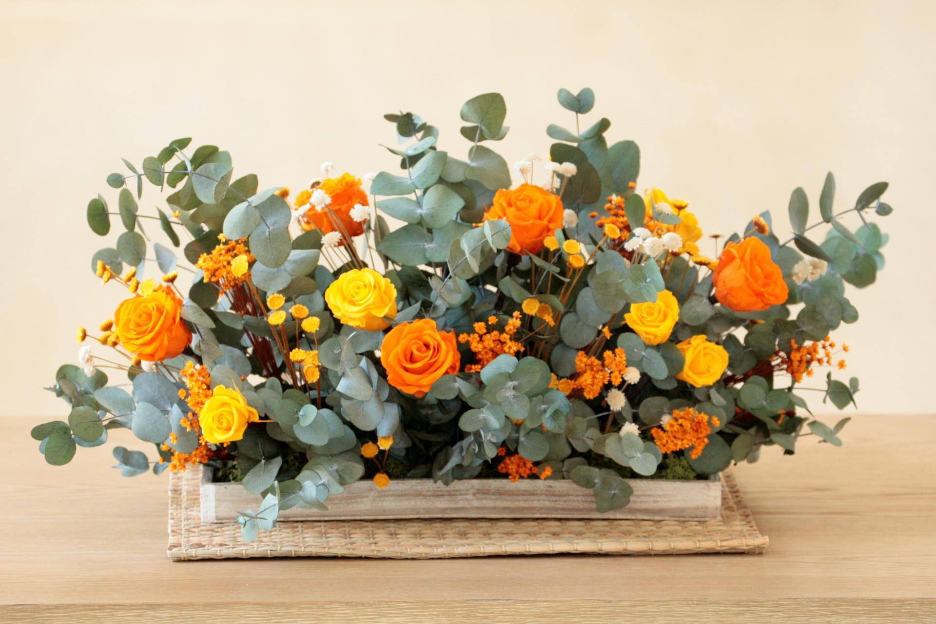 Barák de rosas naranjas