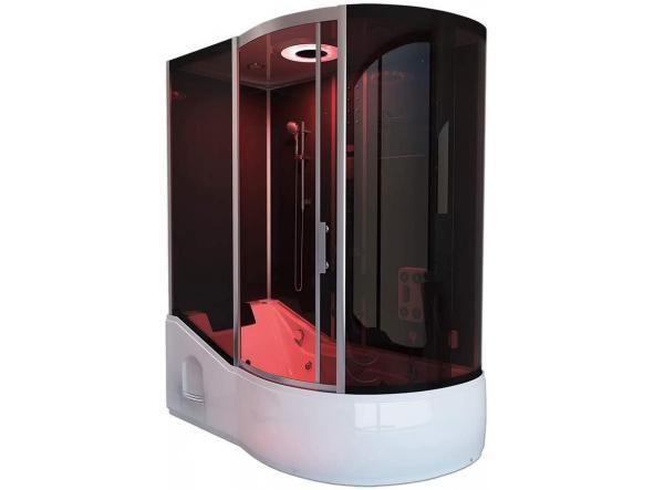 Cabina ducha - Todo EN 4in1 negro derecho - dimensiones: 170 x 90 x 220 cm - incluye sauna de vapor y accesorios completos