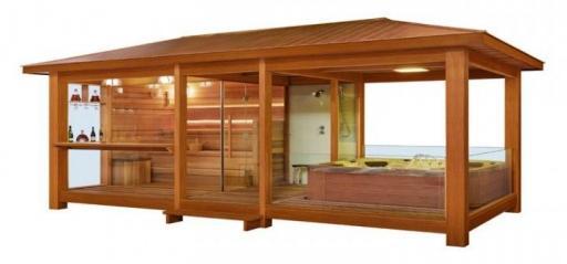 Sauna Gazebo LT06 cedro rojo