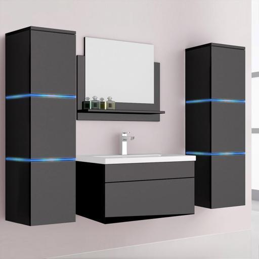 Muebles de baño Wangerooge XL - Negro (HB)