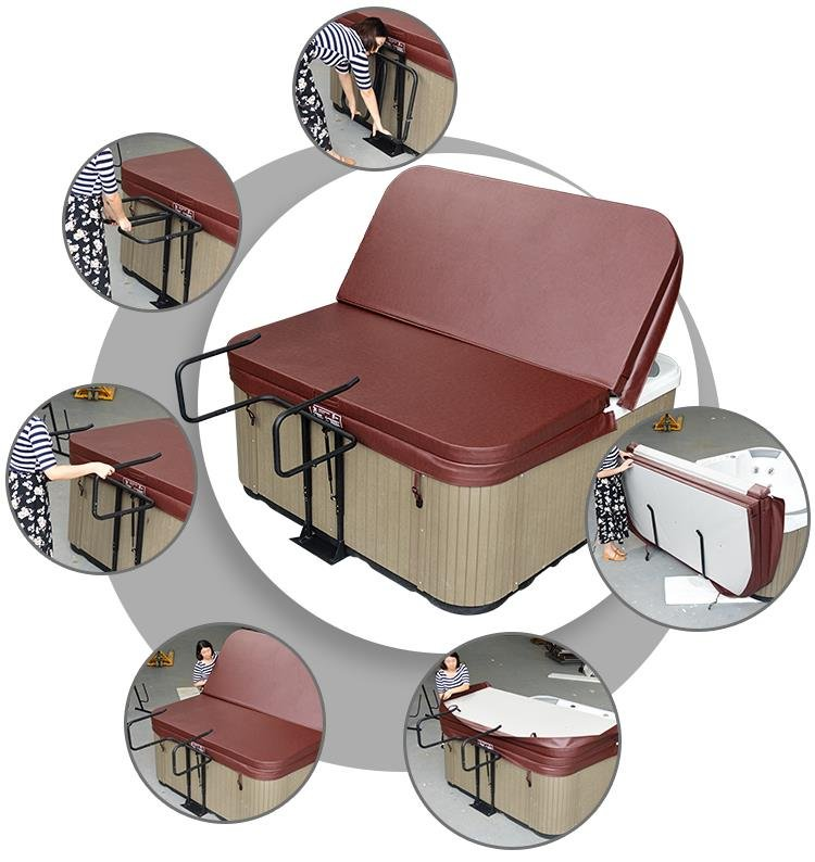 Como Utilizar Elevador Cubierta jacuzzi Spa exterior
