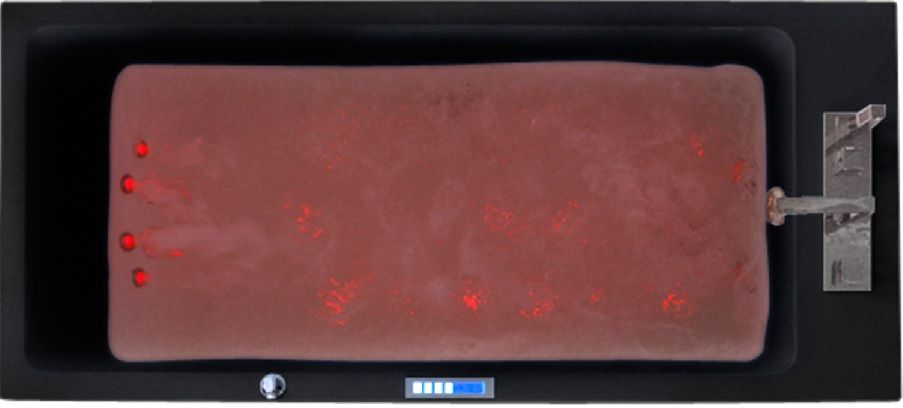 Bañera Mayotte jets con luz Rojo