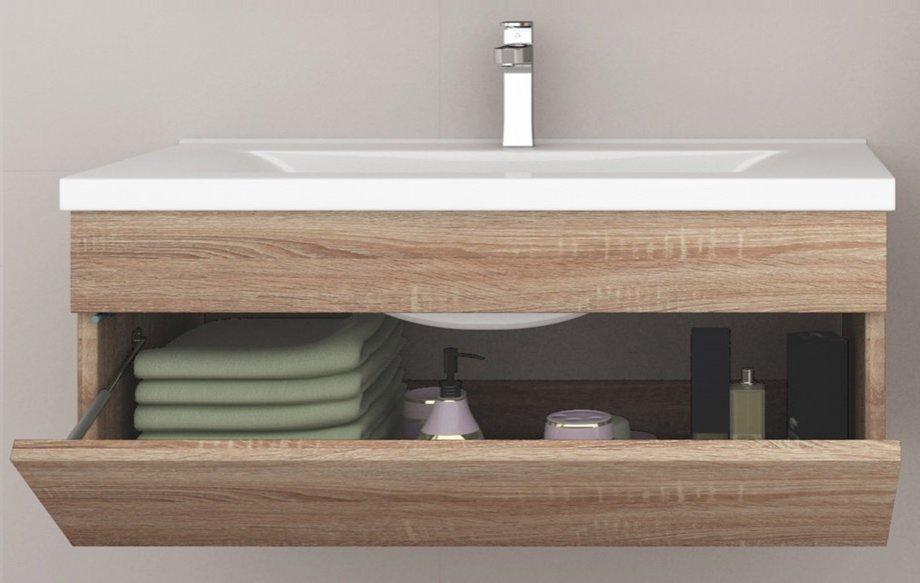 Mueble Baño y Encimera  Wangerouge BIG S-Madera