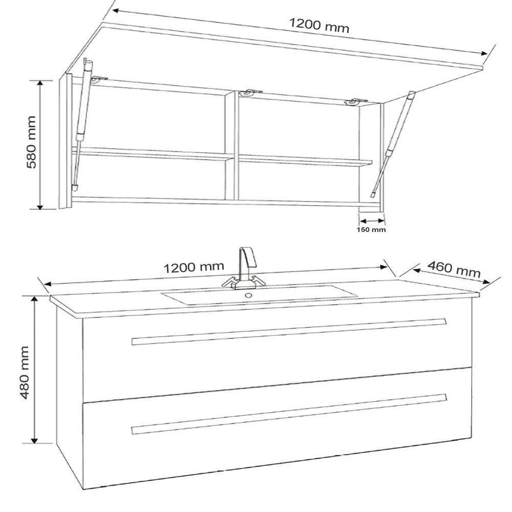 Muebles de baño Wilhelmshaven - Blanco