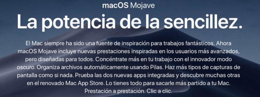 Cómo instalar de cero macOS Mojave