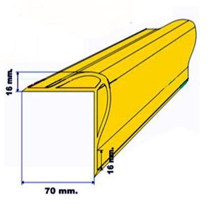 Protector esquinera de 70x70x3000 mm hueca [1]
