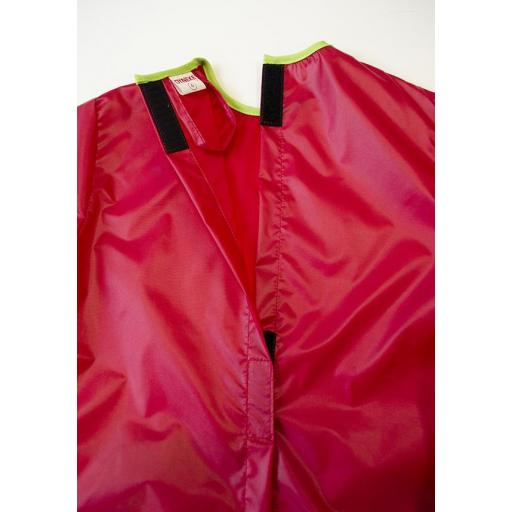 Bata antimanchas roja 'arcoiris' [1]