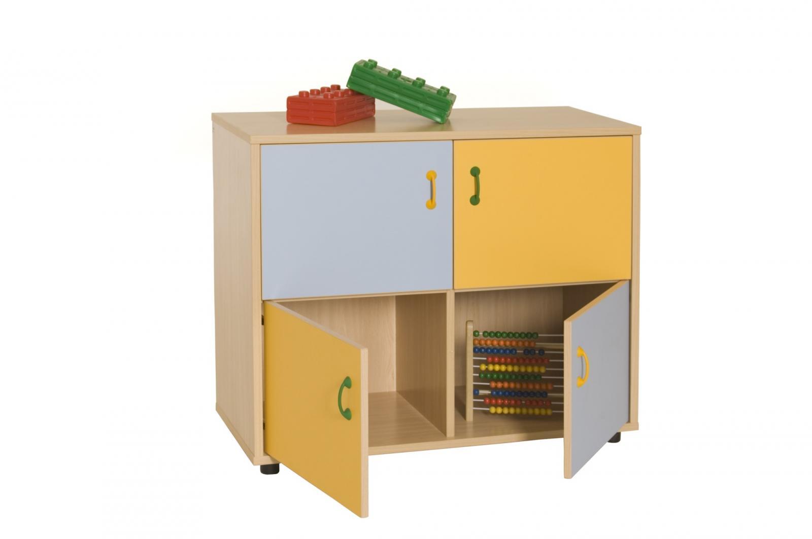 Mueble Bajo Armario 4 Casillas 4 Puertas
