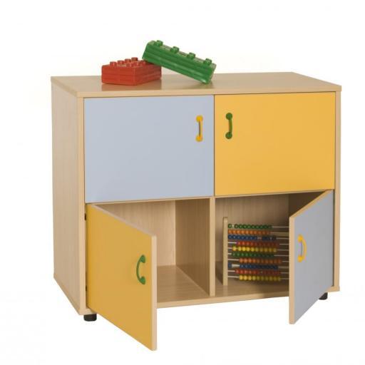 Mueble Bajo Armario 4 Casillas 4 Puertas [0]