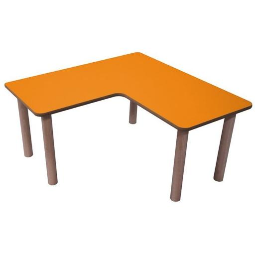 Mesa en L 90x90x45