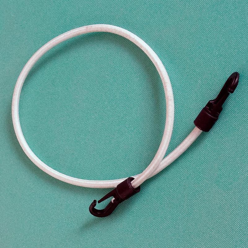 Cordón elástico con ganchos
