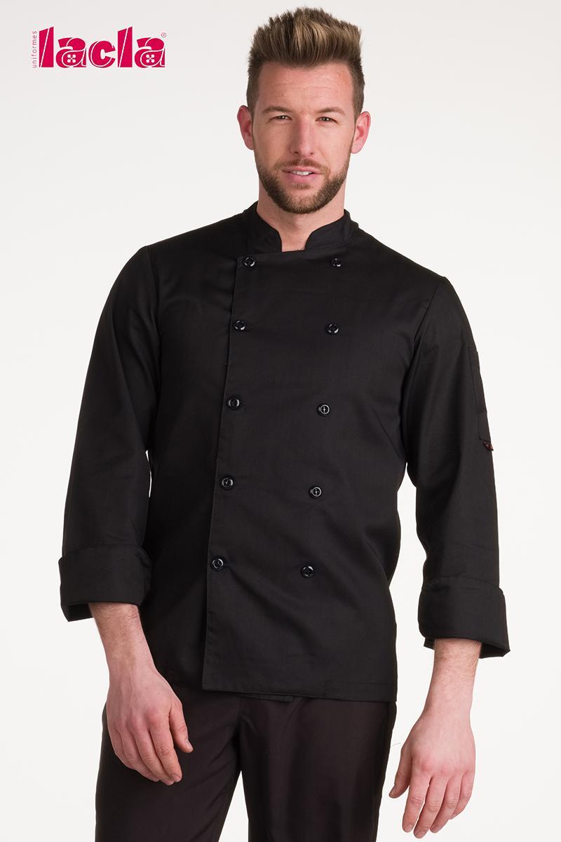 "Chaqueta chef ""dry back"" negra m/l"