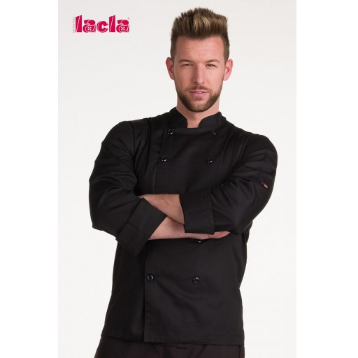 "Chaqueta chef ""dry back"" negra m/l [1]"