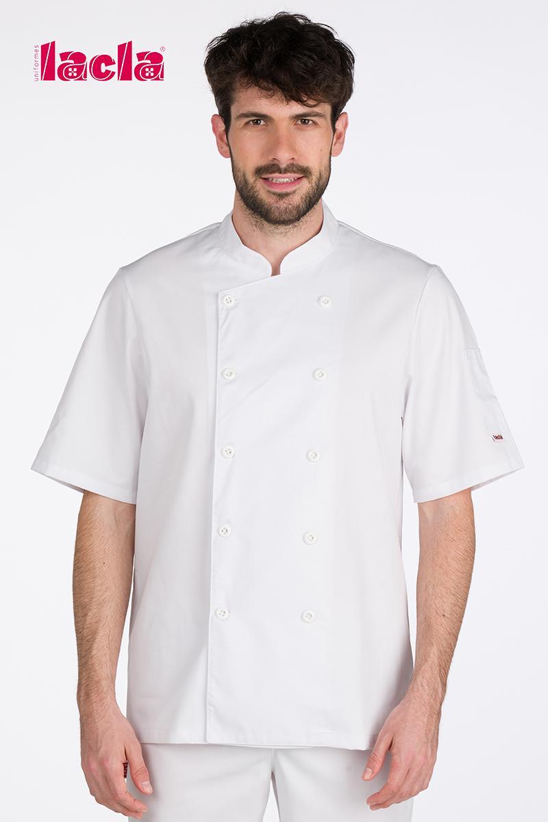 """Chaqueta chef """"dry back"""" blanca"""