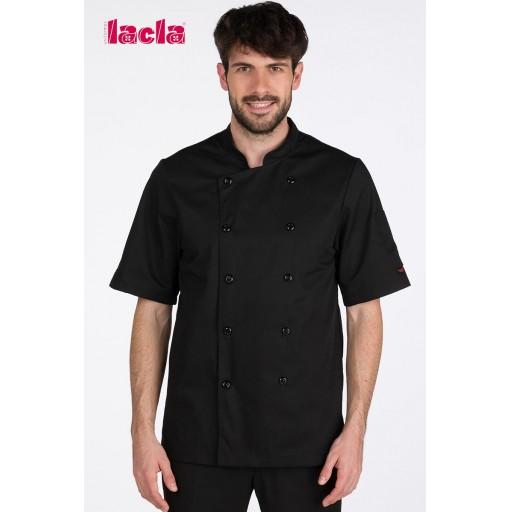 "Chaqueta chef ""dry back"" negra"