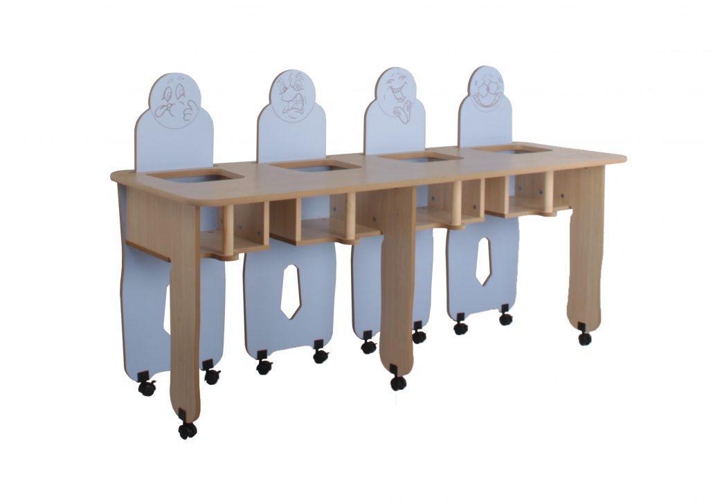 Mesa Trona Recta 4 niños