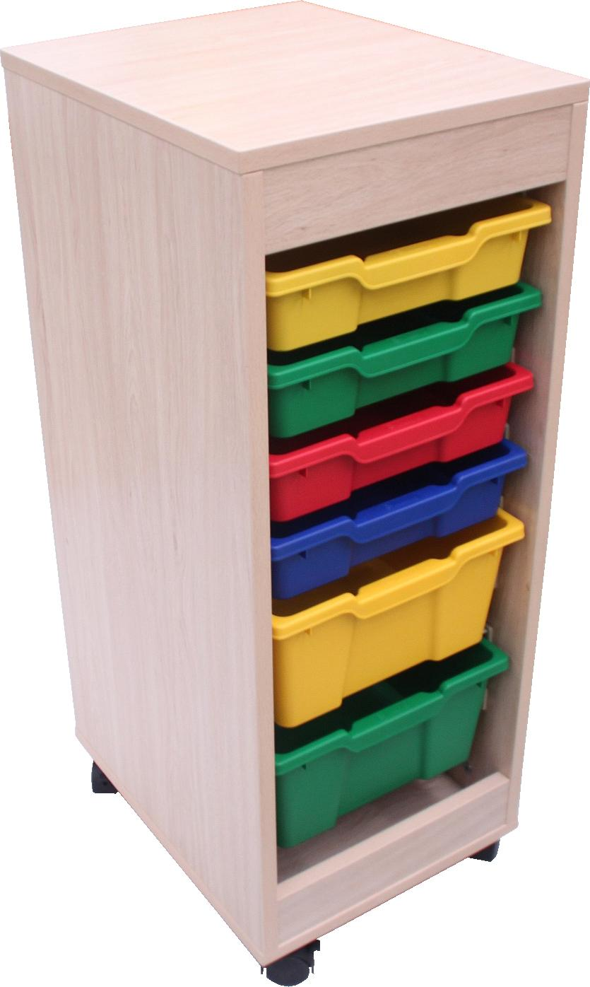 Cubetero doble acceso, 1 columna