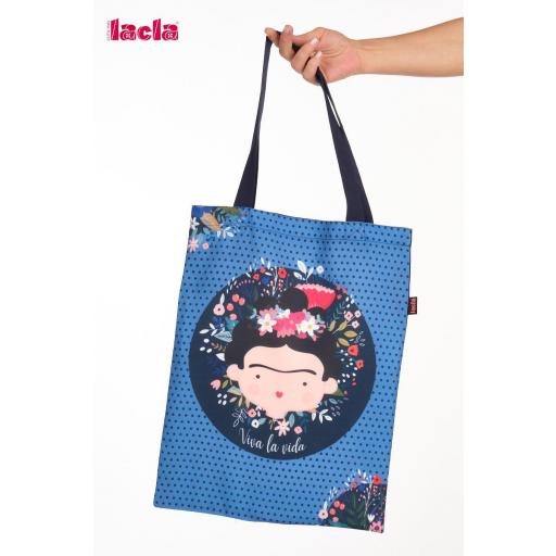 Bolso Maestra Frida Kahlo azul