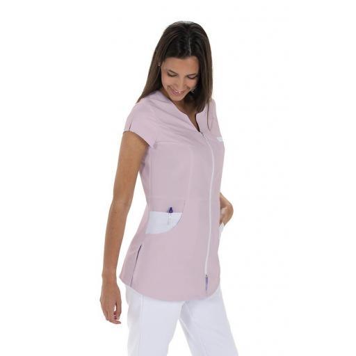 Chaqueta mujer microfibra rosa