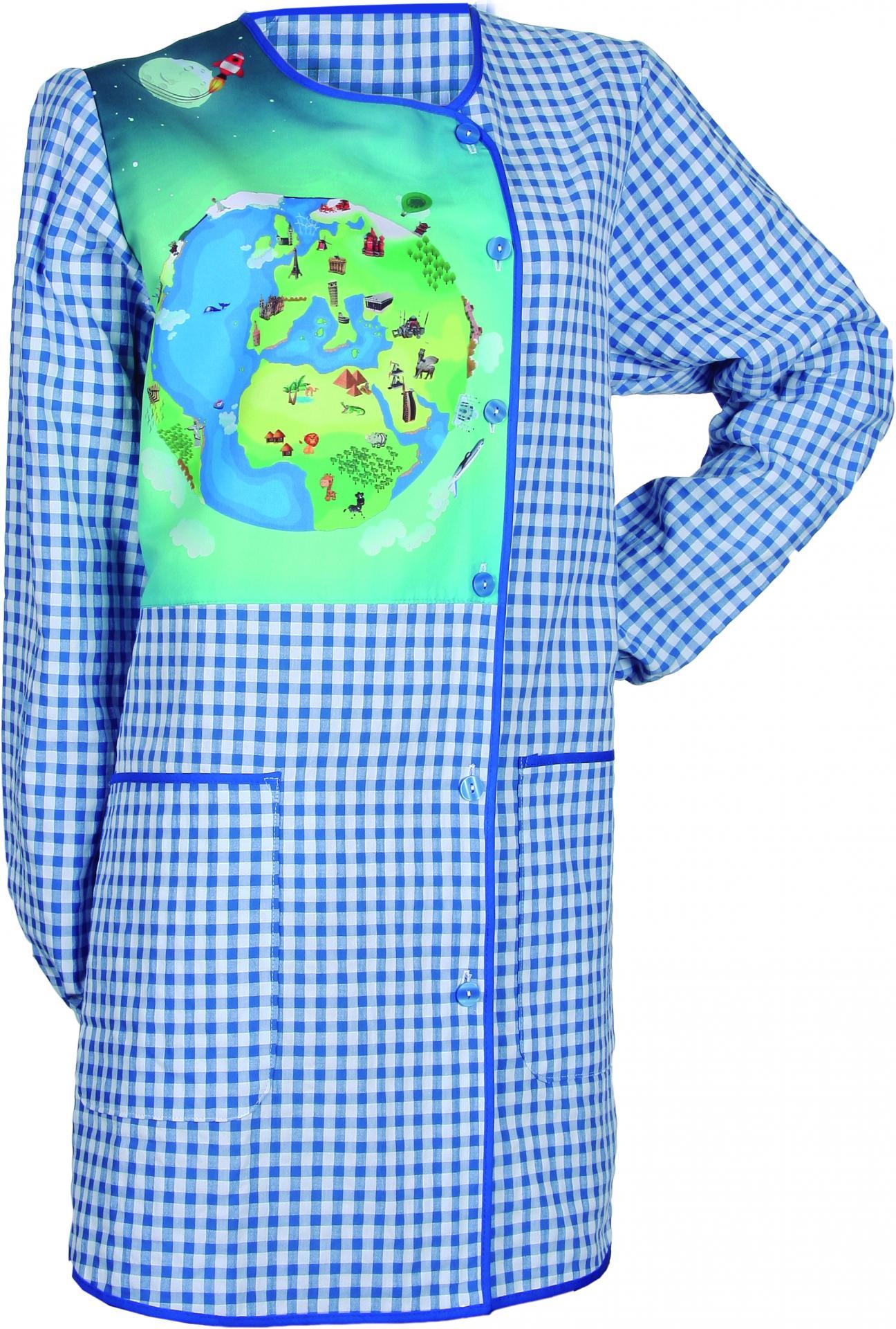 Bata Profesora Mundo Azul