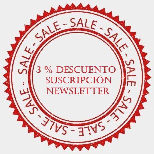 3 % descuento suscripción newsletter