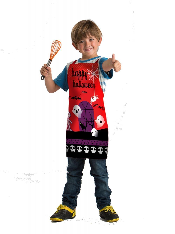 Delantal Infantil Happy Halloween Red