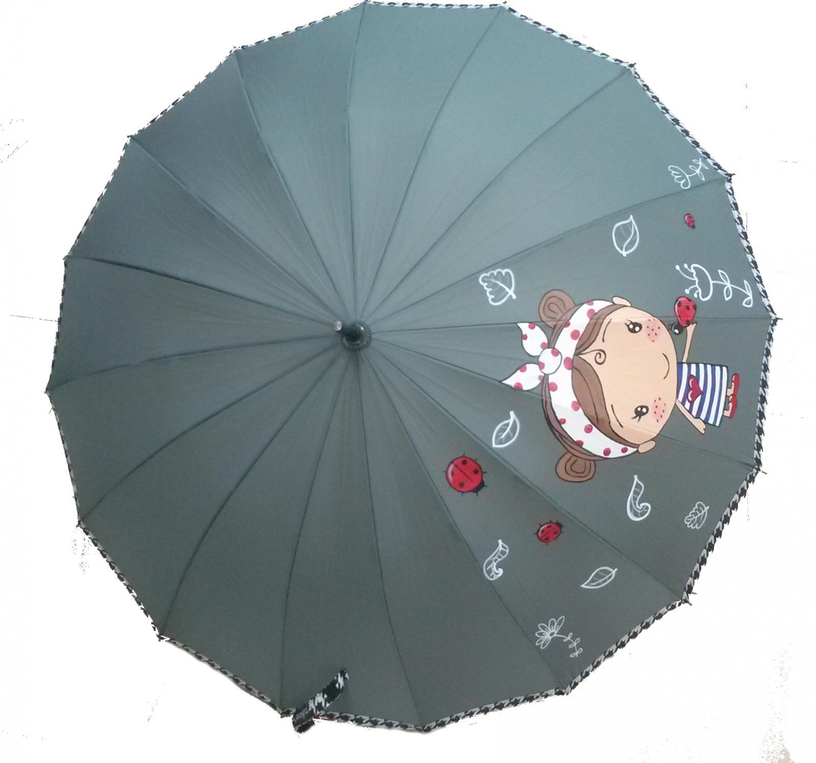 Paraguas niña amapola