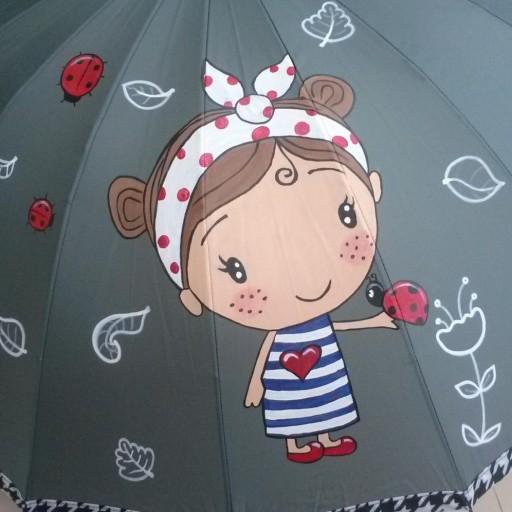Paraguas niña amapola [1]