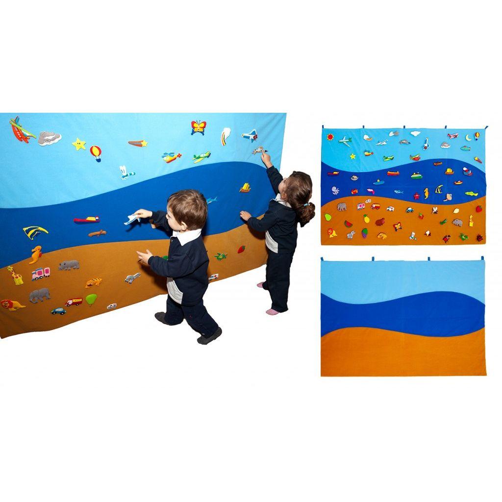Tapiz Mural Tierra, Mar y Aire