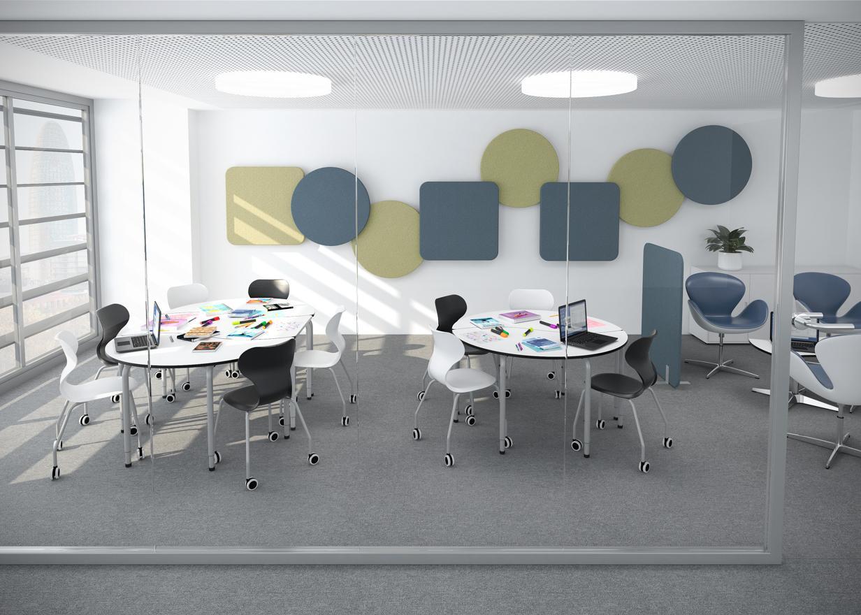 Panel acústico circular de pared 90 (2 uds)