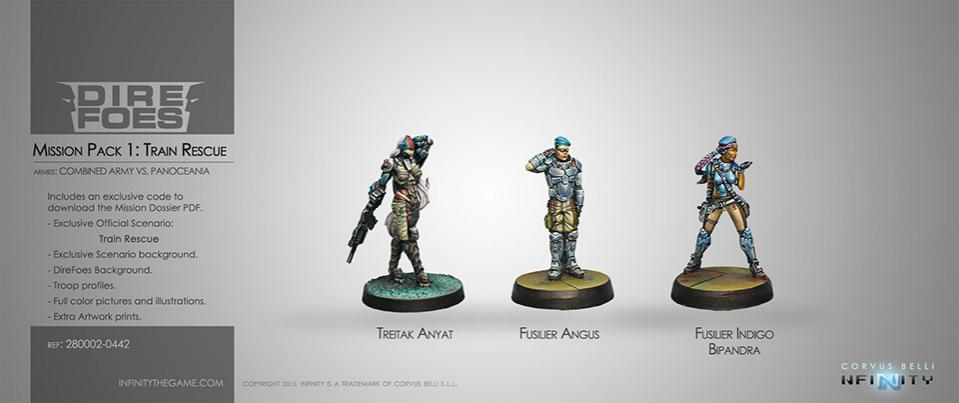 DIRE FOES MISSION PACK 1 TRAIN RESCUE