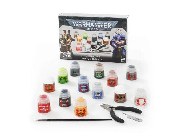 Juego de pinturas y herramientas Warhammer 40000