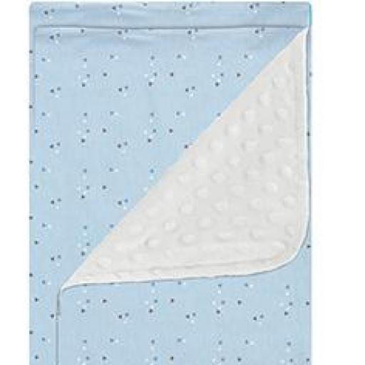 Manta microfibra Jirafa azul