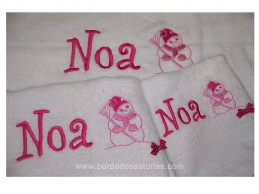 Juego toallas bordadas [2]