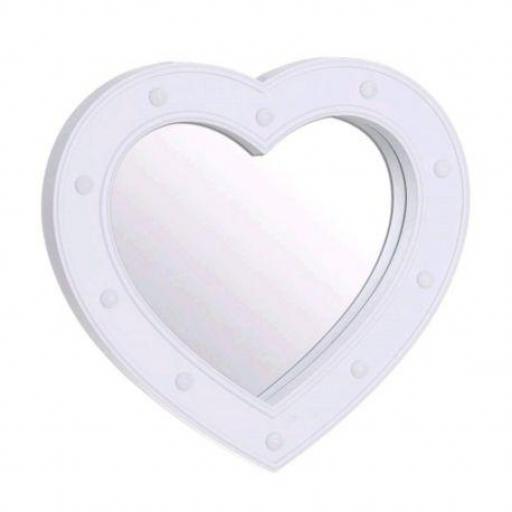Espejo corazón led