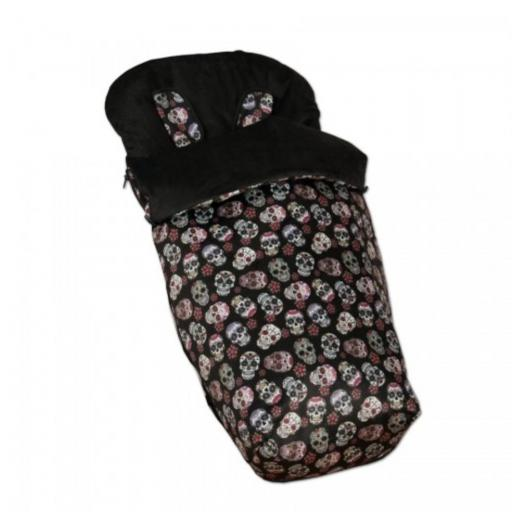 Saco silla + manoplas Lovely Skull (colores)