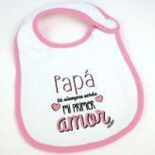 Babero Papá mi primer amor